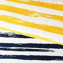 Textil - bavlnený úplet Maľované pruhy, šírka 160 cm - 10860997_