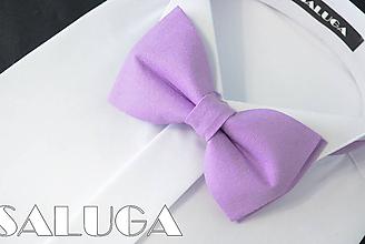 Doplnky - Pánsky fialový motýlik - svetlo fialový - 10861847_