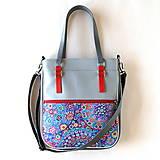 Veľké tašky - Basic - Zipp - Modročervená - 10861783_