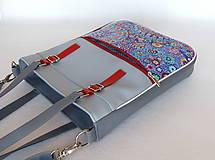 Veľké tašky - Basic - Zipp - Modročervená - 10861784_