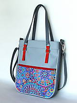 Veľké tašky - Basic - Zipp - Modročervená - 10861785_