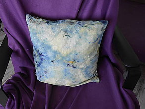 Úžitkový textil - batikovaný vankúš 1. - 10862145_
