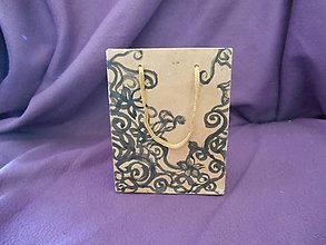 Taštičky - kartónová darčeková taštička - 10862283_