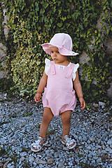 Detské oblečenie - CUKRÍK- Ľanové romperky SIMPLE - 10863118_