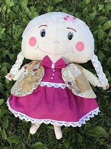 Hračky - Látková bábika Nina+ taška - 10862584_