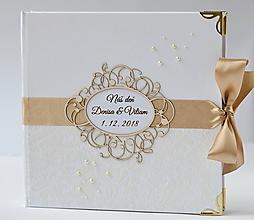 Papiernictvo - Svadobná kniha hostí - 10862986_
