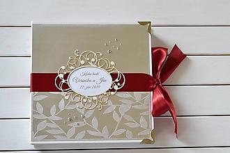 Papiernictvo - Svadobná kniha hostí - 10863025_