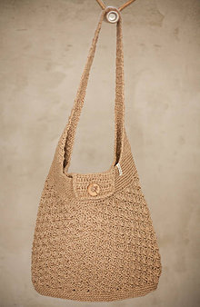 Veľké tašky - borsa da spiaggia fatta di spago - 10862165_