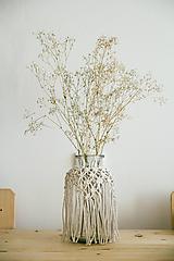 Svietidlá a sviečky - macrame váza - 10862198_