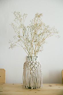 Dekorácie - macrame váza - 10862198_
