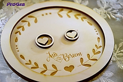 Prstene - Kruhový tanierik na obrúčky - 10862498_