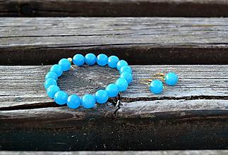Sady šperkov - Pozlátená sada Jadeit zo striebra - 10861802_