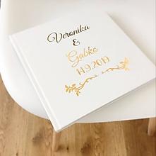 Papiernictvo - Svadobná kniha hostí Gold Ornament - 10861807_