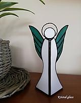 Svietidlá a sviečky - Anjel - svietnik - 10862387_