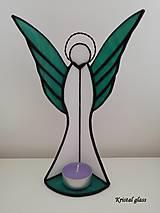Svietidlá a sviečky - Anjel - svietnik - 10862388_
