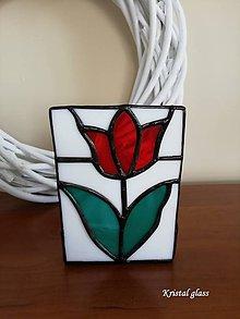 Svietidlá a sviečky - Svietnik - tulipán - 10862832_