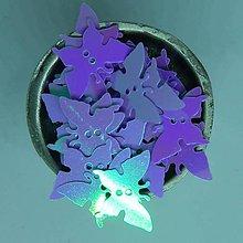 Iný materiál - Flitre motýle 18mmx10mm fialové AB - 10862413_