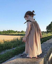 Detské oblečenie - letné šaty - béžové pre vílu - 10863035_