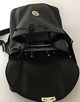 Batohy - Čierny kožený batoh - 10862049_