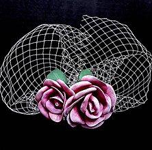 Ozdoby do vlasov - Fascinátor s ružami - 10862602_