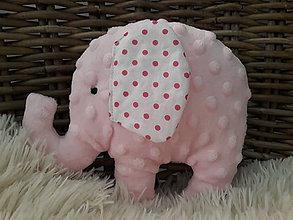 Hračky - Slon ušatý ... minky - 10863552_