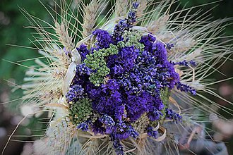 Dekorácie - Sušená kytička s levanduľou - 10864202_