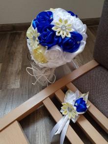Kytice pre nevestu - Svadobná kytica ruže (mix farieb) - 10863368_