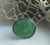 Prstene - prstienok v zelenom - 10864866_