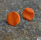 Náušnice - napichovačky vlnky oranžové - 10864871_
