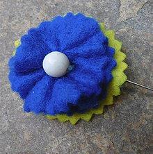 Odznaky/Brošne - brož kráľovská modrá - 10864589_