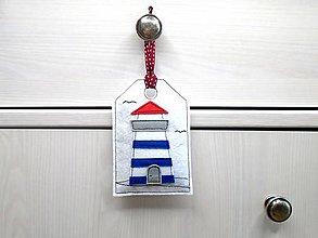Dekorácie - Levanduľová dekorácia s prímorským dizajnom (Maják) - 10864268_