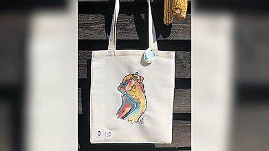 Nákupné tašky - ♥ Plátená, ručne maľovaná taška ♥ - 10864369_