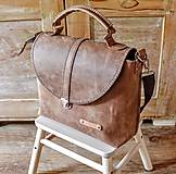 Veľké tašky - Dámska vintage aktovka - 10863698_