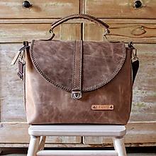 Veľké tašky - Dámska vintage aktovka - 10863696_