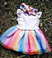 Detské oblečenie - DÚHOVÁ PRINCEZNÁ - 10863608_