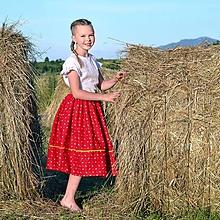 Detské oblečenie - Starosvetská sukňa (rastúca) - 10864825_