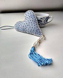 Dekorácie - Textilné srdce - 10863785_