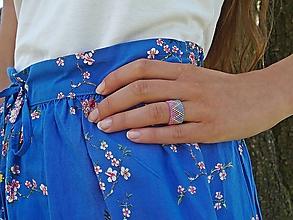 Prstene - prsteň CYNTHIA ružová/modrá - 10864135_