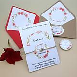 Papiernictvo - Červený venček - svadobné oznámenie - 10864545_