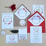 Papiernictvo - Červený venček - svadobné oznámenie - 10864547_