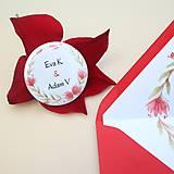 Papiernictvo - Červený venček - svadobné oznámenie - 10864550_