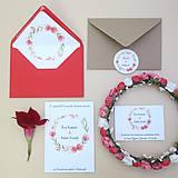 Papiernictvo - Červený venček - svadobné oznámenie - 10864553_
