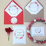 Papiernictvo - Červený venček - svadobné oznámenie - 10864554_