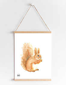 Detské doplnky - Art Print - veverička - 10865079_