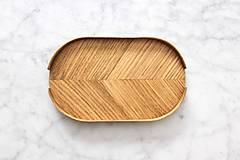 Nádoby - Podnos z dreva - malý - 10864070_