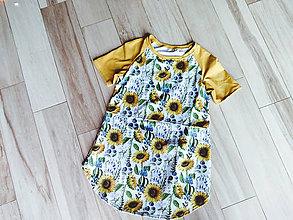 Tričká - Vzorované tričko na kojenie SKLADOM (Žltá) - 10864718_