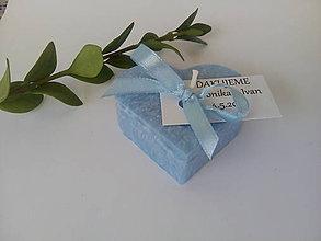 Darčeky pre svadobčanov - Srdiečko modré - 10864620_