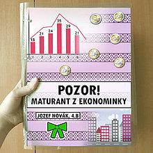 Papiernictvo - Pozor! Maturant z ekonomiky (zakladač) (folk pruhy) - 10863831_