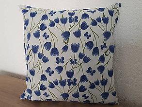 Úžitkový textil - Obliečka na vankúš (Modrá) - 10865260_