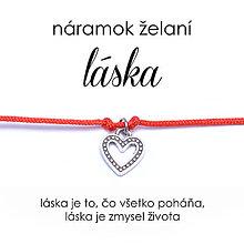 Náramky - náramok želaní Láska - 10865765_